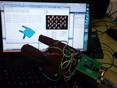 Develop glove-based system to recognize sign language