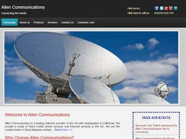 Telecommunications Website