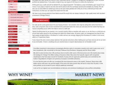Invest into wine