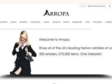 Magento based website (http://www.arropa.co.uk)