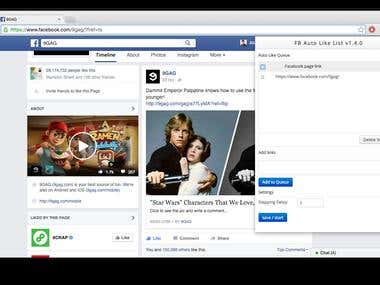 Facebook Autolike Google Chrome Extension