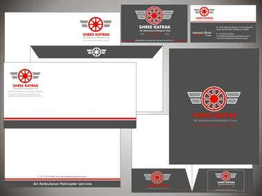 Air Ambulance Stationery Design