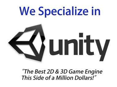I Specialize in Unity 3D Pro!