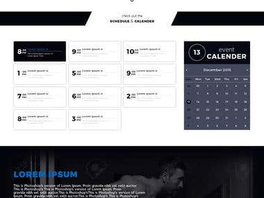 Fitness Website Mockup