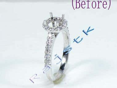 Jewelry Image white background
