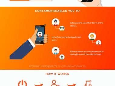 Contamon App Landing Page