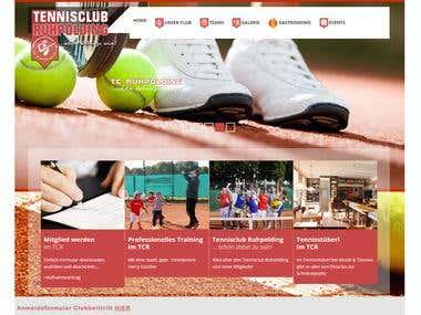 Website for  a tennis club