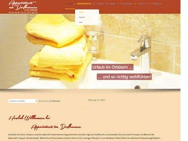 Website for an apartment rental