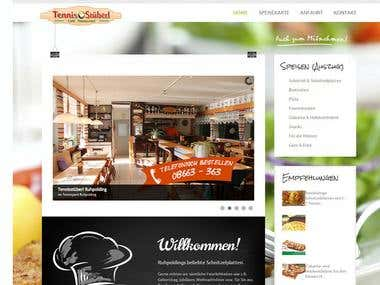 Website for a restaurant and cafe