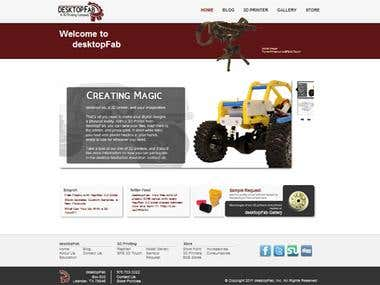 desktopFab Full Site Design including Magento Ecommerce