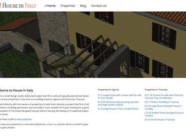 Hous In Italy Wordpress website