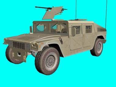 Hummer with MG