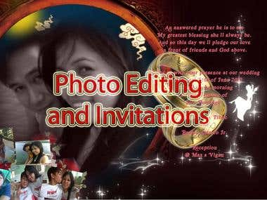 Photo Editing and Invitaions