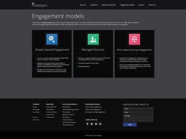 Web design (for Y company)