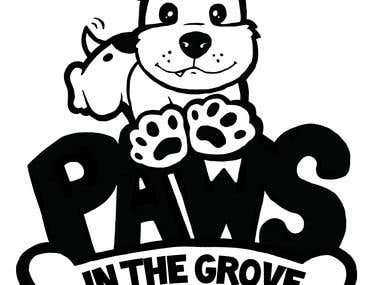 Logo for Paws in the Grove fun run