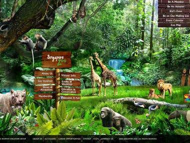 Custom CMS and Design for Singapore Zoo