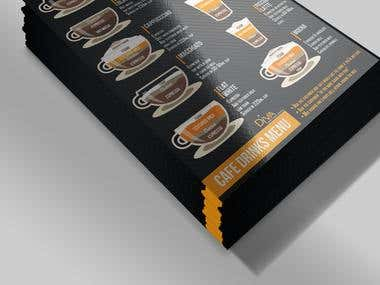 Coffe menu