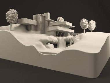 Fallingwater House ~ 3D Printable