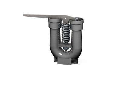 Rams bottom safety valve