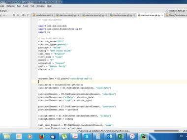 Python XML interpreter
