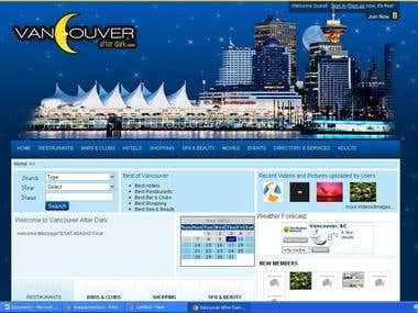 Vancouver Afer dark website