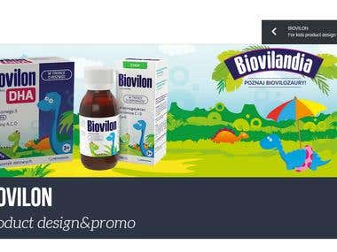 Landing page for Biovilon pharmacy