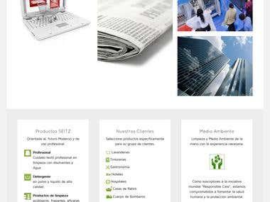 Página para empresa  cleansol.cl venta de productos de limpi