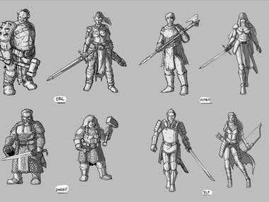 Character concept designs
