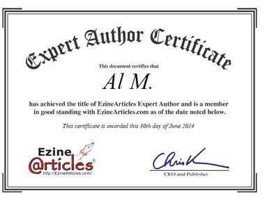 Basic PLUS Level Expert Author