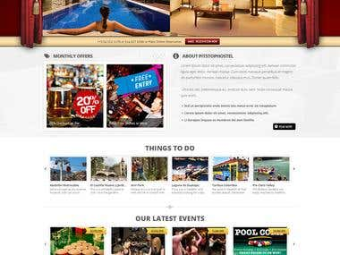PitStop Hostel (Joomla Website)