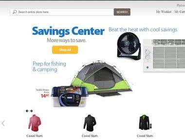 E Com site using Magento