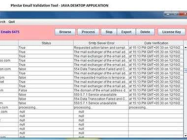 E Mail Validating Application(JAVA)