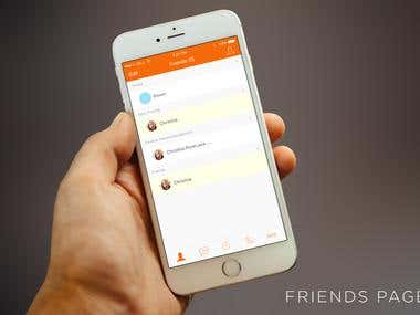 Chat app design.