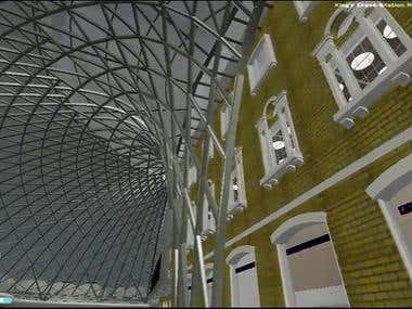 Kings Cross Station Re-development (screencaptures from VR)