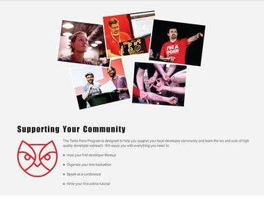 Website mock up design