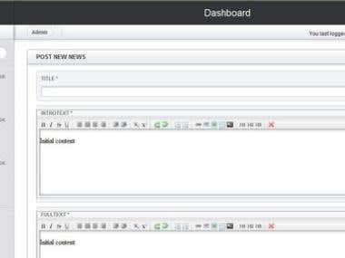 Panda College Admin Dashboard
