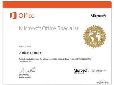 Microsoft MsOffice Specialist