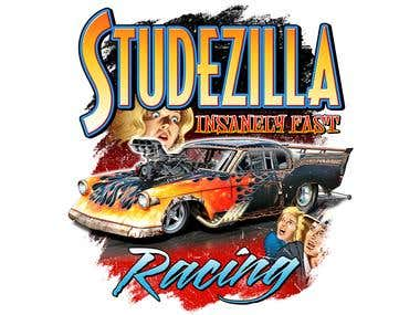 Studzilla Racing T shirt Design