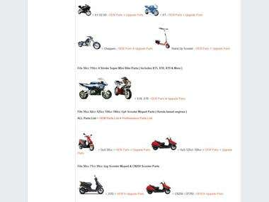 BigCommerce base eCommerce website (Scooter Parts Unlimited)