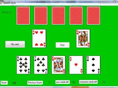 """Speed card"" card  game in c++"