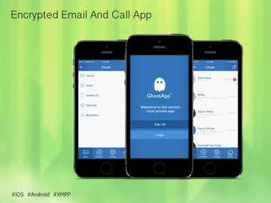 Encrypted Email And Call App