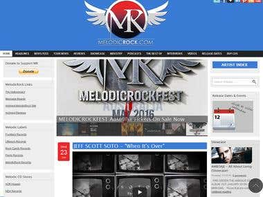 Melodic Rock Music (Drupal 7)