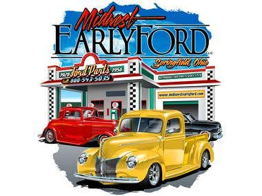 Midwest Early Ford T shirt Design