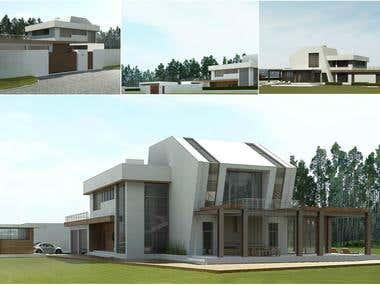 Villa in the style of hi-tech in Ukraine, Kyiv city