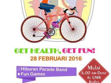 Fun bike poster design