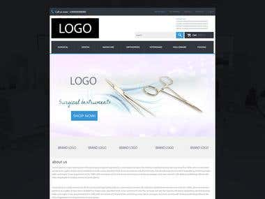 Website template Design and Developed