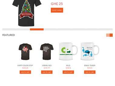 open cart t-shirt website design