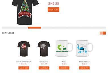 open cart t-shirt website design