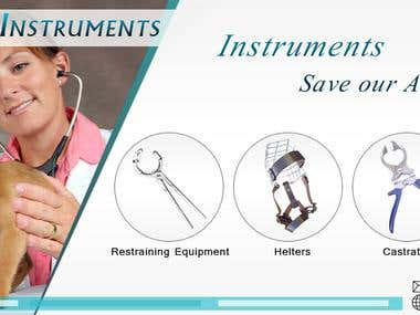 Professional Veterinary instruments Banner Design