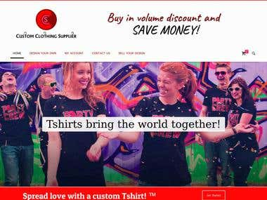 CUSTOMIZED T-SHIRT STORE USING WOOCOMMERCE